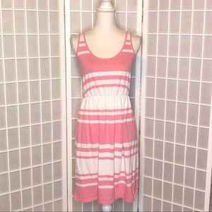 Old Navy pink white tank dress size medium